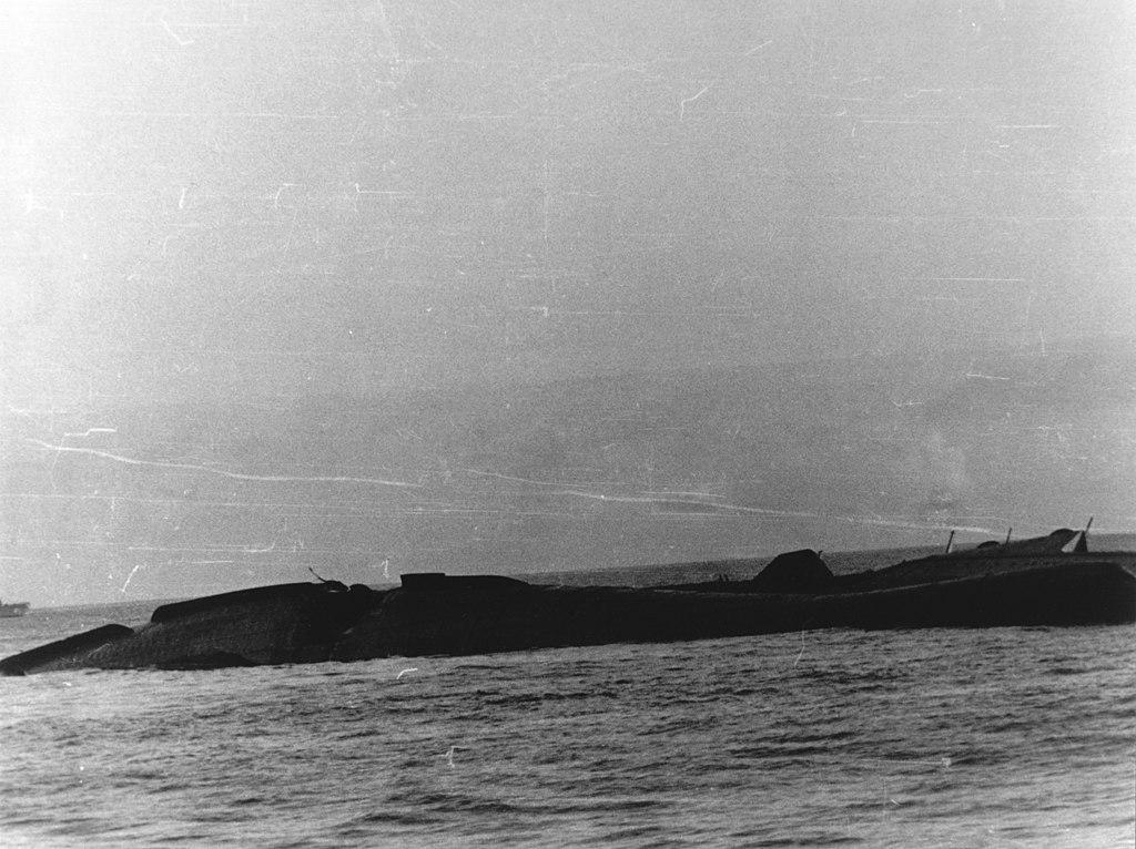 file uss yorktown  cv-5  sinking  7 june 1942 jpg