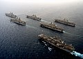 US Navy 030420-N-7128D-011 The amphibious assault ships of Commander, Task Force Fifty One (CTF-51) come together in an unprecedented formation.jpg