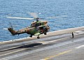 US Navy 040326-N-1082Z-077 An AS 565 Panther helicopter assigned to France's nuclear-powered aircraft carrier, Charles de Gaulle, lands aboard USS George Washington (CVN 73).jpg