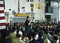 US Navy 050915-N-7202W-002 U.S. Coast Guard Vice Adm. Thad W. Allen, principle federal official (PFO) for federal response to Hurricane Katrina, addresses the crew of the amphibious assault ship USS Iwo Jima (LHD 7).jpg