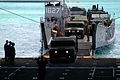 US Navy 060209-N-4772B-237 The amphibious dock landing ship USS Harpers Ferry (LSD 49) Sailors direct equipment assigned to the 31st Marine Expeditionary Unit (MEU) into the well deck.jpg
