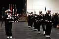 US Navy 070307-N-0555B-119 The honor guard on board USS Ronald Reagan (CVN 76) performs a drill routine before parading the United States and China's flags during a reception held aboard the aircraft carrier.jpg