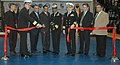 US Navy 071206-N-8848T-096 The Commanding Officer of Recruit Training Command, Capt. Annie B. Andrews, cuts a ribbon to open the new Atlantic Fleet Drill Hall.jpg