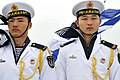 US Navy 090420-N-8273J-198 People's Liberation Army Navy sailors stand at attention during a visit by Chief of Naval Operations (CNO) Adm. Gary Roughead aboard the People's Liberation Army Navy type 920 hospital ship Daishandao.jpg