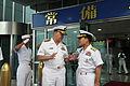 US Navy 090707-N-8273J-146 Chief of Naval Operations (CNO) Adm. Gary Roughead meets with Vice Adm. Park Jung-hwa, Commander, Republic of Korea Fleet during a visit to the Republic of Korea Fleet headquarters in Busan, Korea.jpg