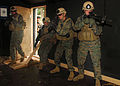 US Navy 090820-N-9573A-006 Marines from Fleet Anti-terrorism Security Team, Company Pacific (FASTPAC) secure a space during a simulated hostage scenario at Commander, Fleet Activities Chinhae.jpg