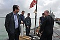 US Navy 100224-N-7915T-042 U.S. Ambassador to Spain and Andorra Alan D. Solomont talks with Sailors assigned to the Los Angeles-class attack submarine USS Albany (SSN 753) at Naval Station Rota, Spain.jpg