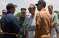 US Navy 100704-N-4971L-098 Capt. Kurt Hedberg, left, gives an impromptu tour of High Speed Vessel Swift (HSV 2) to Guatemalan President Alvaro Colom in Puerto Quetzal, Guatemala.jpg