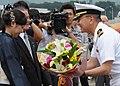 US Navy 100709-N-3215T-131 Cmdr. Jeffrey Kim, commanding officer of the Arleigh Burke-class guided-missile destroyer USS John S. McCain (DDG 56).jpg