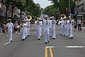 US Navy 110529-N-VK779-034 Sailors perform and march in the Forest Hills Parade to celebrate military appreciation day during the 24th annual Fleet.jpg