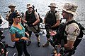 US Navy 111007-N-AW702-051 Members of the visit, board, search and seizure (VBSS) team assigned to the guided-missile destroyer USS Farragut (DDG 9.jpg
