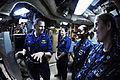 US Navy 111111-N-BQ308-078 Capt. Brian Humm, commanding officer of the guided-missile submarine USS Ohio (SSGN 726) answers quality of life questio.jpg