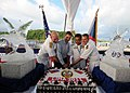 US Navy 111206-N-KK935-250 Cake gets cut at reception.jpg