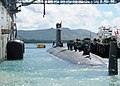 US Navy 120103-N-GE301-026 Sailors assigned to the Virginia-class submarine USS North Carolina (SSN 777) prepare to moor alongside the submarine t.jpg