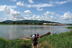 Ubangi (Oubangui) River at the outskirts of Ba...