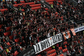 Donbass Arena - Shakhtar Ultras in the stadium