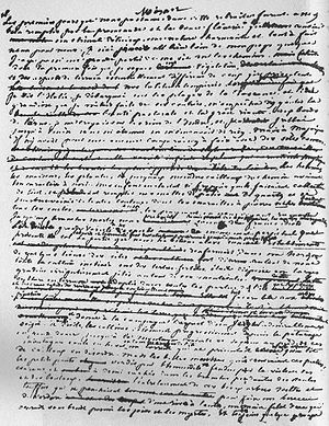 A Winter in Majorca - Manuscript page of the novel.