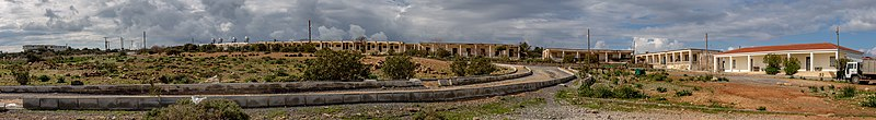 Unfinished rooms by Apostolos Andreas Monastery, Northern Cyprus.jpg