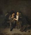 Ungt par på ett värdshus - Hallwylska museet - 89003.tif