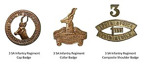 3rd SA Infantry Regiment - 3 SA Infantry Regiment Insignia