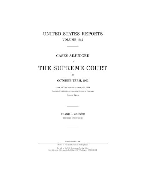 File:United States Reports, Volume 512.djvu