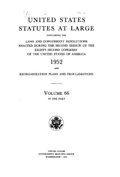 File:United States Statutes at Large Volume 66.djvu