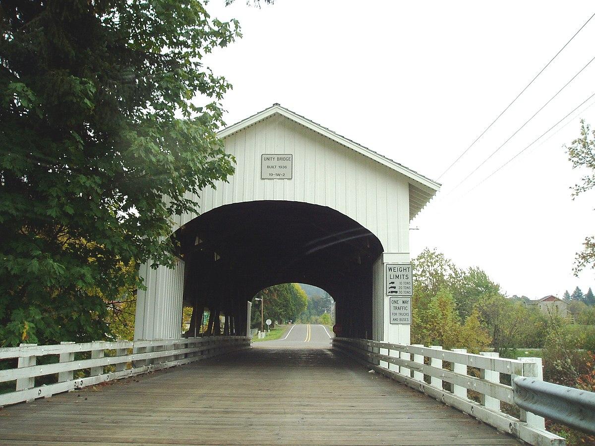 Unity Bridge Lowell Oregon Wikipedia