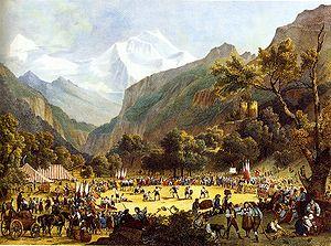 Culture of Switzerland - Unspunnenfest in 1808