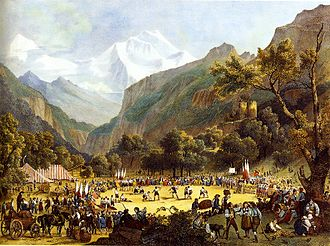 Culture of Switzerland - Unspunnenfest in 1808