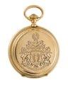 Ur med boett av guld med von Hallwylska vapnet ingraverat, 1870-tal - Hallwylska museet - 110590.tif