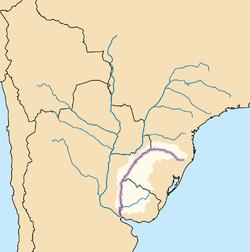 Curso y cuenca del río Uruguay