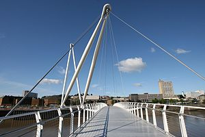 Newport City footbridge - Newport City footbridge from the east bank
