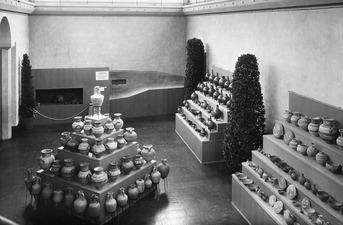 Utställning på Liljevalchs Konsthall 1933. Utställningsvy. Stockholm. utställning. Sverige - SMVK - C06242.tif