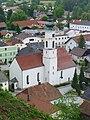 Uttendorf-Marktkirche Hl. Petrus & Hl. Paulus vom Schlossberg aus.jpg