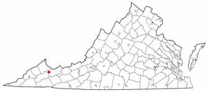 Richlands, Virginia - Image: VA Map doton Richlands