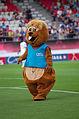 Valais Cup 2013 - OM-FC Porto 13-07-2013 - Bibi mascotte de Crans-Montana.jpg