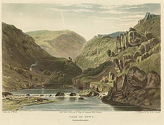 Geography of Wales - Depiction of the Vale of Towy, Carmarthenshire
