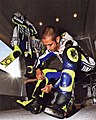 Valentino Rossi suiting up.jpg
