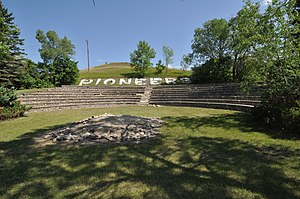 National Register of Historic Places listings in Barnes County, North Dakota - Image: Valley City ND Pioneer Park Amphitheater