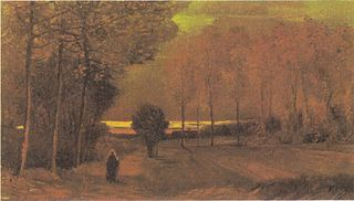 Autumn Landscape at Dusk