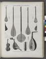 Vases, meubles et instrumens. Instrumens orientaux à corde connu en Égypte (NYPL b14212718-1268860).tiff
