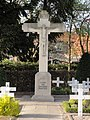 Venray Leunen, stenen kruisbeeld op kerkhof.JPG