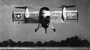 Vertol VZ-2 - The VZ-2 in flight in 1958.