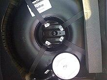 autogas tank inside spare wheel recess