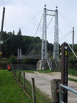 Victoria Steel Suspension Bridge, Aberlour - geograph.org.uk - 1493276