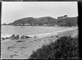 View across the bay to the fishing village at Moeraki, circa 1925. ATLIB 292389.png