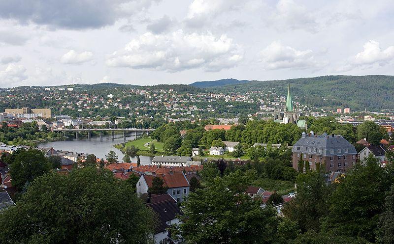 View from Kristiansten Fortress / Trondheim, Norway