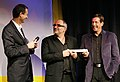 Viktor Gernot und Michael Niavarani, Andreas Mailath-Pokorny, Österreichischer Kabarettpreis 2010 a.jpg