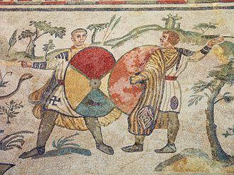 Villa Romana del Casale - Hunters on the Great Hunt mosaic