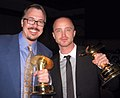Vince Gilligan and Aaron Paul cropped with noise removed.jpg